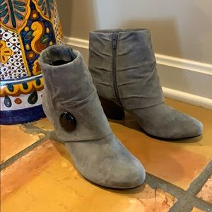Adorable Gray Suede Boots